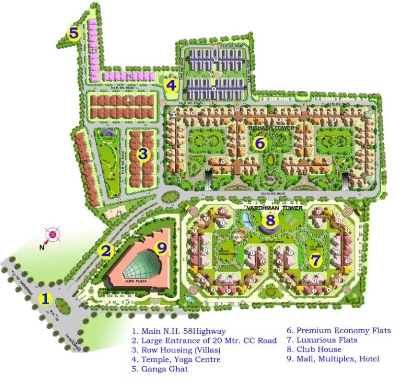 The Vardhman Developers  Master Plan - Country Home Plans